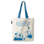 Finlayson Tote bag Moomin traveller blue 45x42 cm