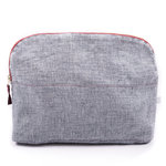 Gauhar Cosmetic Bag Linen Blue Large