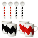 Marimekko for Finnair Lokki mug set