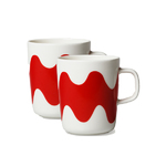 Marimekko for Finnair Lokki mug, 2pc, red/white